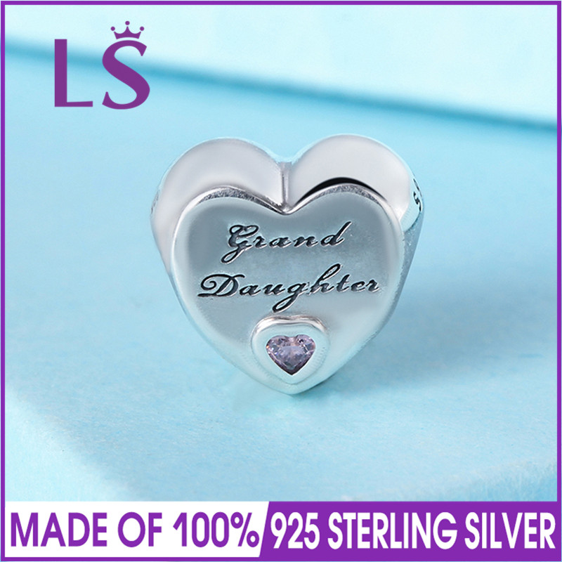 LS High Quality 925 Sterling Silver Granddaughters Love Charm Beads Fit Original Bracelets Pulseira Encantos.Fine Jewlery W