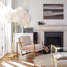 Modern LED Floor Light Romantic Feather Design Living Room Floor Lamp Feather Landing Lamp 110V 220V Stand Lamp Deco Stand Light fashionable design feather floor lamp home lighting for living room dining room bedroom stand light with foot switch