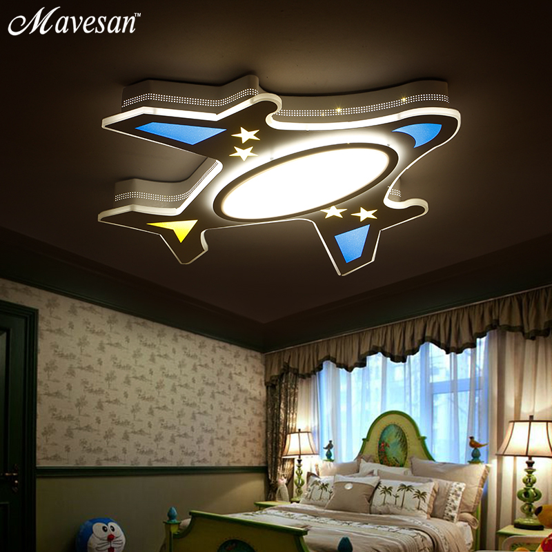 New kids study room Ceiling Lights airplane LED for 5 15square meters child Bedroom Ultra thin