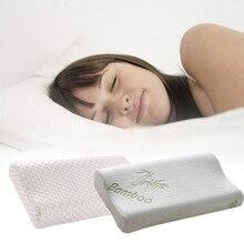 Unihome blanco fibra de bambú rebote lento memoria almohada almohada espacio de atención médica