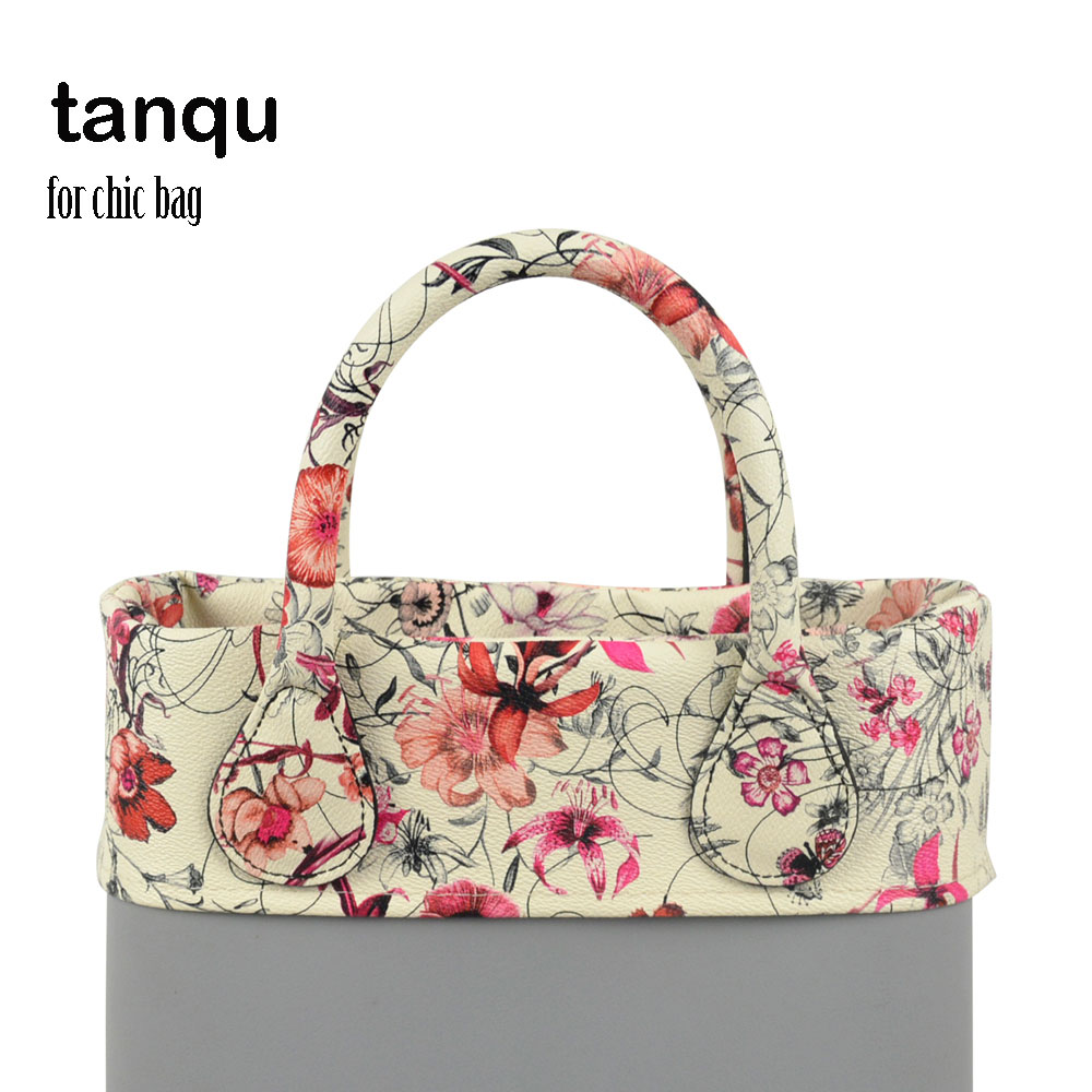 Tanqu Trim Thin Decoration For Ochic Obag Handbag Summer Floral PU For O Bag Body