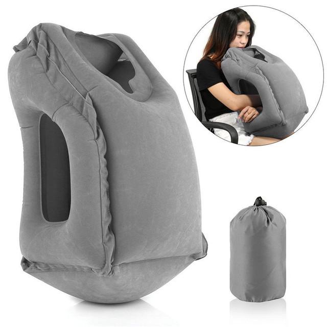 XC USHIO Inflatable Travel Pillow Air Soft Cushion