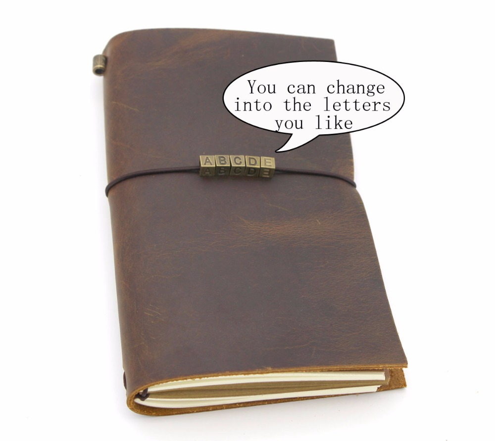 Vintage Handmade Refillable Leather Travelers Journals Diary geniune leather notebook diary Traveler's Notebook travels letters цена