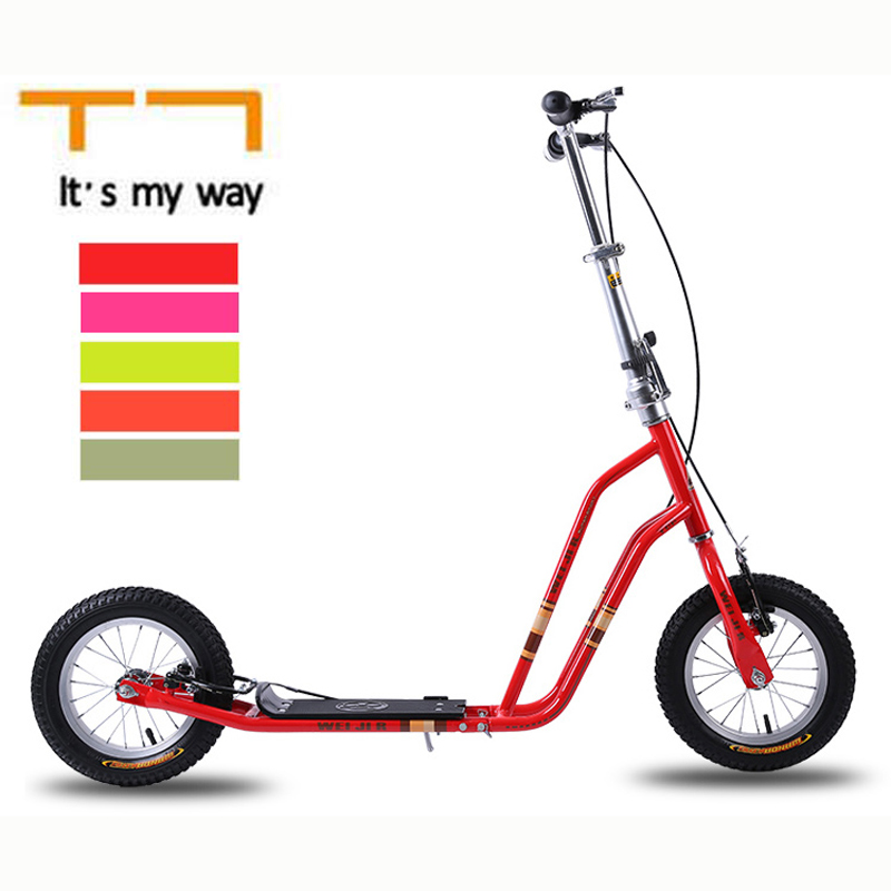 T7 12 Inch Air Wheel Kids Scooter High Carbon Steel Frame and Hand Brake Rubber TyreT7 12 Inch Air Wheel Kids Scooter High Carbon Steel Frame and Hand Brake Rubber Tyre