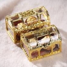 Портативная коробка для конфет, Европейский полый Золотой Серебряный сундук с сокровищами, Ювелирное кольцо, ожерелье, чехол для переноски, органайзер, коробка для хранения