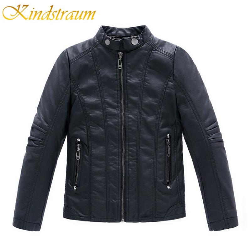 Kindstraum 2017 New Fashion Kids Faux Leather Jackets Boys Kid Clothes Spring Fall Children Fashion Coats
