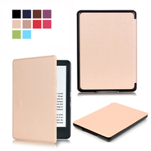 For new kindle 2016 8th generation ebook PU leather smart PU leather cover case ultra slim thin cover for 2016 new kindle 8th(China)
