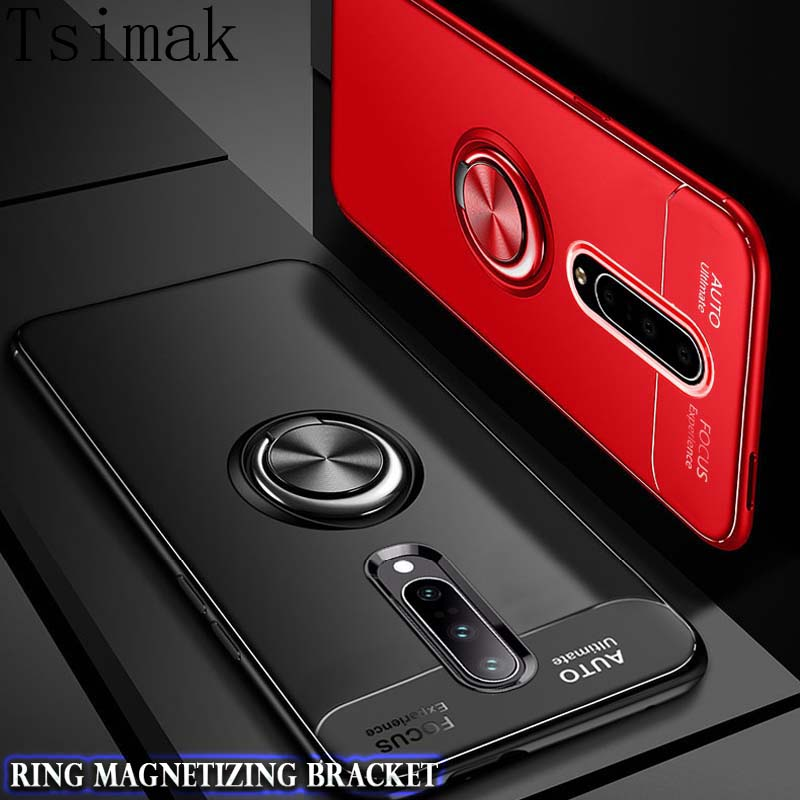 <font><b>Case</b></font> For Oneplus <font><b>6</b></font> 6T 7 7T Pro <font><b>one</b></font> <font><b>plus</b></font> <font><b>6</b></font> T 7 1+7 Pro Cover Silicone Shockproof Car Magnetic Ring Holder <font><b>Phone</b></font> Back Coque <font><b>Case</b></font> image