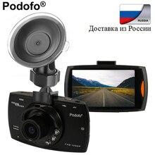 Podofo Автомобильный видеорегистратор g30 Full HD 1080 P 2.7 «Автомобильный видеорегистратор Регистраторы Регистратор Автомобильный Камера Ночное Видение G-Сенсор DVRs регистраторы черный ящик