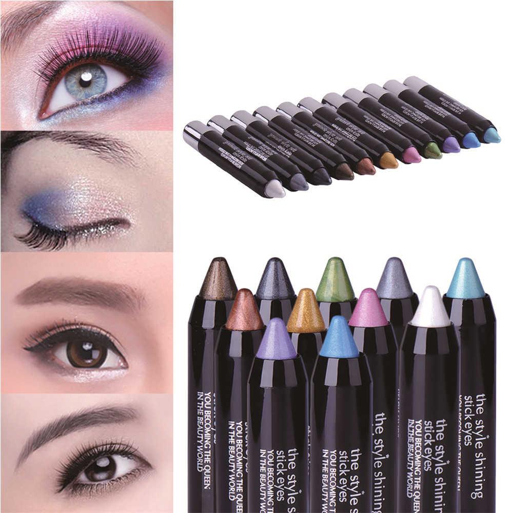 11 цветов Волшебная блестящая подводка для глаз карандаш сценическая Косметика Макияж мерцающие тени-карандаш водостойкая красочная подводка для глаз тени для век