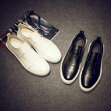 Summer Spring genuine leather  Shoes Men Low Pedal Shoes Breathable Massage men Slip on Shoes Casual Black White Men's Shoes
