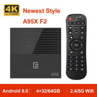 A95X F2 Android 9.0 TV BOX Quad Core 4K Support 2.4G&5G Dual Band WIFI RJ45 LAN USB3.0 HDMI Optical Android Box