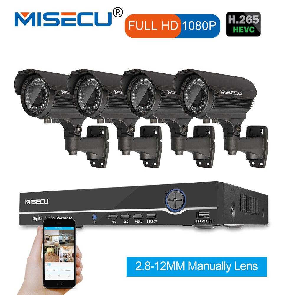 1080 P 8CH HD NVR комплект реальный POE 48 В в 2MP 4 шт. POE Модуль IP 42 шт. IR 2,8-12 мм зум-объектив камера влагозащищенная P2P Onvi система видеонаблюдения Компле...