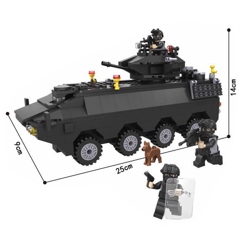 6508 HSANHE 418Pcs City Police SWAT Armored Car Model Building Blocks Enlighten Action Figure Toys For Children Compatible Legoe сумка dkny сумка
