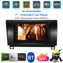 7'' Smart Android 6.0 2 Din Car Stereo Radio Player GPS Navigation with BT WIFI AM/FM Fit for Toyota Sequoia Tundra 2008-2013 цена 2017