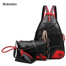 Bokinslon Модные рюкзаки простые женские PU кожаные женские Школьные сумки классический изысканный Популярные Сумки для дам