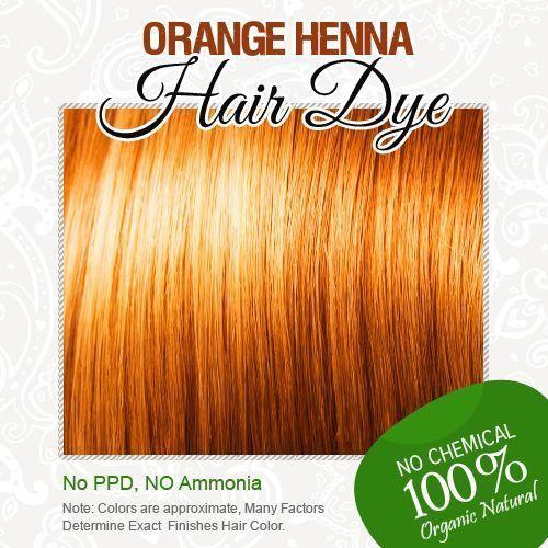 New Orange Henna Hair Dye 100% Organic and Chemical Free Henna for ...