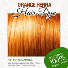 New Orange Henna Hair Dye - 100% Organic and Chemical Free Henna for Hair Color Free Shipping(China)