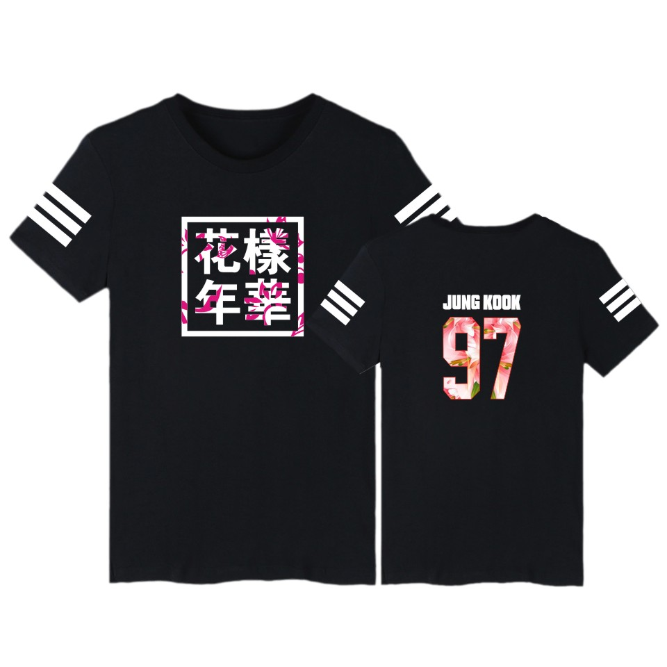 Summer Bts T Shirts Letter Print Short Sleeve T Shirt