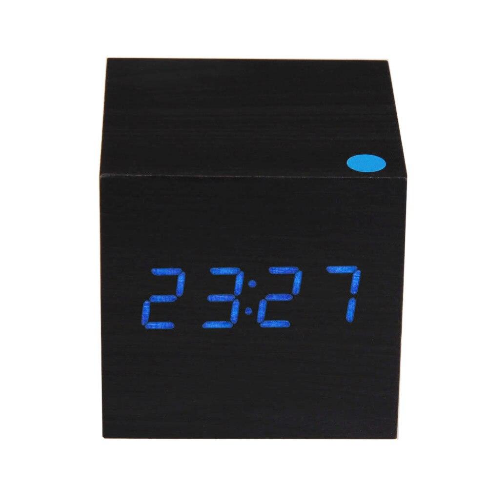 Kayu Persegi Biru Led Alarm Meja Jam Digital Putih Thermometer Weker Bentuk Bulat Hijau Usb Aaa Tanggal Tampilan Vioce Sentuh Diaktifkan Di Clocks Dari Rumah