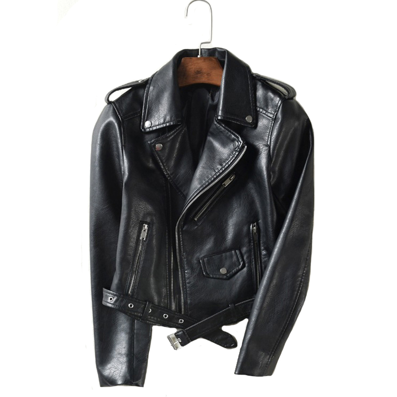 Avec ceinture automne femmes veste en cuir 5 couleurs Moto Biker asymétrique fermeture éclair femme Faux cuir manteau Outwear de haute qualité