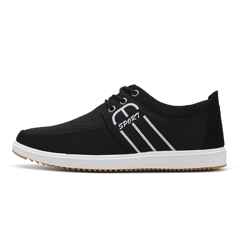 RGKWXYER Fashion Men Canvas Shoes Lace Up Breathable Male Shoes Slip On Casual Cloth Shoes Student Low top Shoes Male Sneakers in Men 39 s Vulcanize Shoes from Shoes