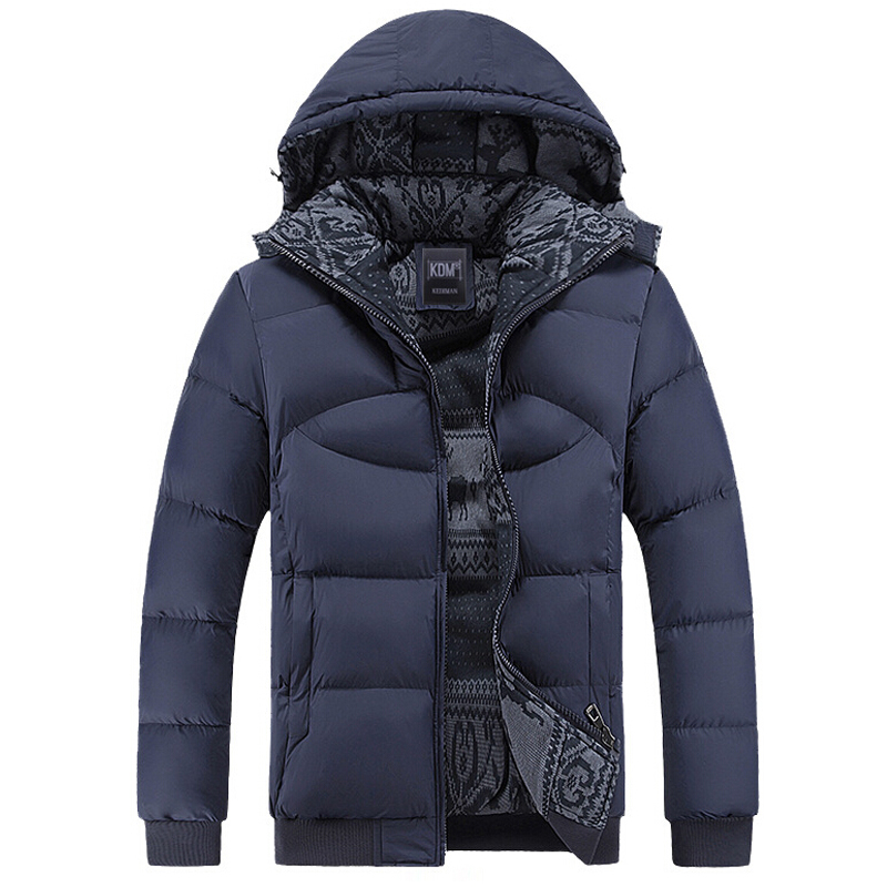 Hot Winter Coat Men Casual Windbreaker Hooded Cotton Duck Mens Jackets And Coats Male Thick Warm Padded Overcoat High Quality