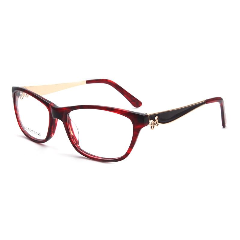 Image 4 - HOTOCHKI New Arrival Retro Eyeglasses Frames Women Butterfly Optical Prescription Elegant Female Acetate Frame oculos de grauWomens Eyewear Frames   -