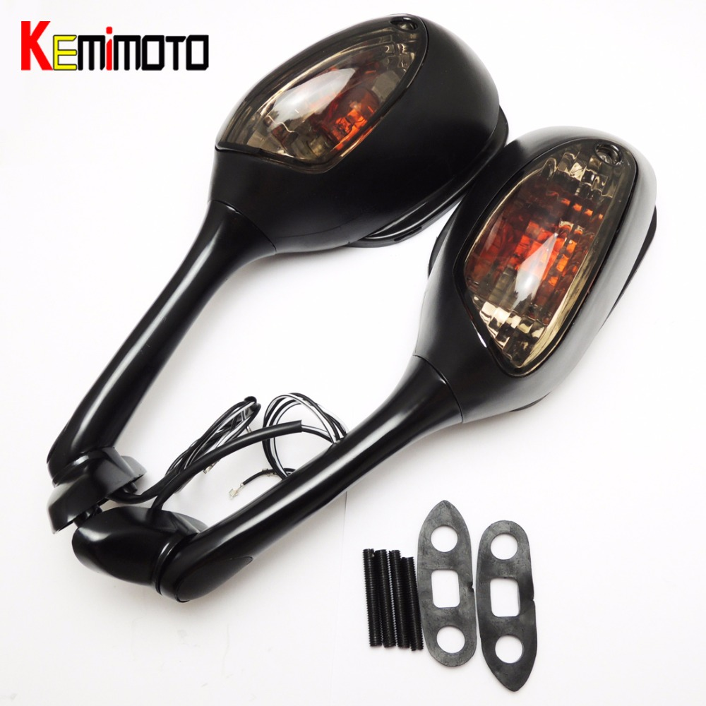 KEMiMOTO Motorcycle Rearview Mirror for Suzuki GSXR 600 750 2006 2007 2008 2009 2010 GSXR 1000 2005 2006 2007 2008 after market motorcycle silver unfoldable rear brake pedal foot lever for 2006 2014 suzuki gsxr 600 750 2005 2015 suzuki gsxr 1000