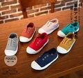 Мода Простой Дизайн Евро Размер 22-37 детей мальчики обувь повседневная ленивые обувь холст кроссовки популярные девушки квартиры