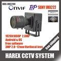 Sony imx322/2.0mp ov2710 1080 p mini câmera ip onvif 2.8-12mm manual de lente zoom varifocal plug and jogar com suporte