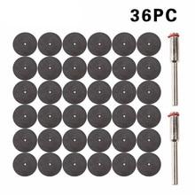36 ピース樹脂カットオフホイール切断ディスク Dremel 回転工具ビット Dremel アクセサリー用 + 2 ピースマンドレル