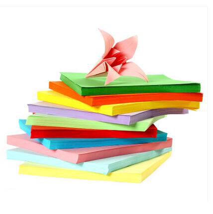 600pcs/lot  Colorful DIY manual paper-cut for kirigami and festal decoupage paper cutting teaching supplies WJ0182