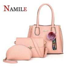 3 piece set ladies handbag 2019 Messenger bag fashion shoulder PU leather casual women shopping