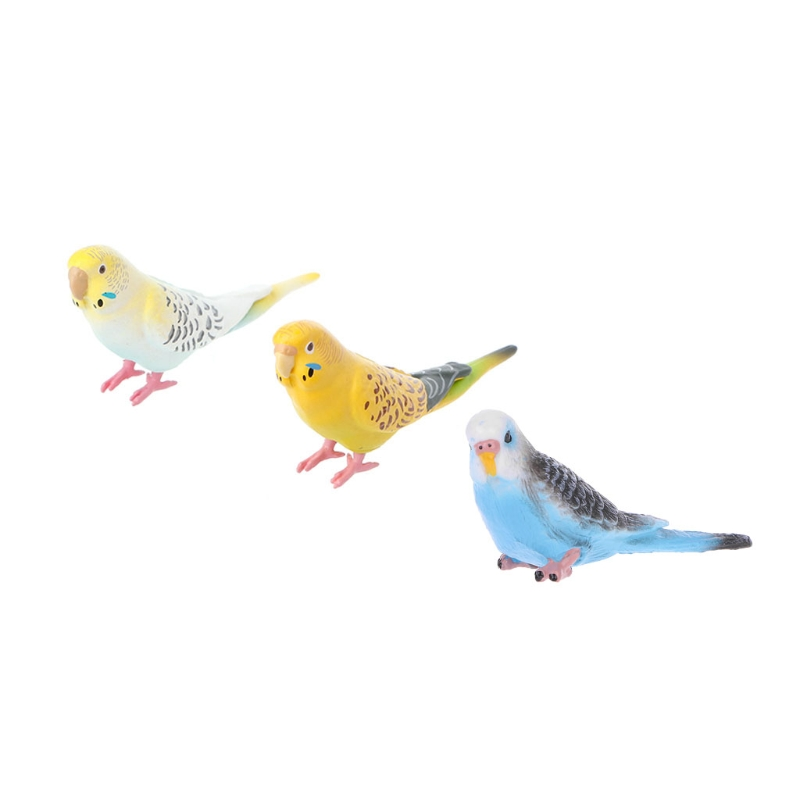 Hbb 1pc Cute Small Parrot Bird Simulation Model House Office Desk Decoration Ornaments Pvc Kids Action Toy Figures Collect Gifts Durable In Use
