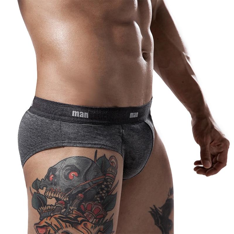Cotton Mens Underwear Briefs  Underwear For Men Male Shorts Cuecas Calzoncillos