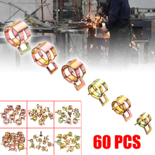 60pcs/set 7mm 10mm 11mm 14mm 16mm 17mm Hose Clamps Fuel Hose Line Water Pipe Clamp Hoops Air Tube Fastener Spring Clips 60pcs spring clips 6 9 10 12 14 15mm for air hose tube water pipe fuel oil pipe silicone vacuum hose clamp fastener mayitr