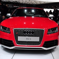 RS5 Style Matt silver frame black Front Bumper mesh Grill Grille Car styling For Audi A5 S5 S Line 2007~2011