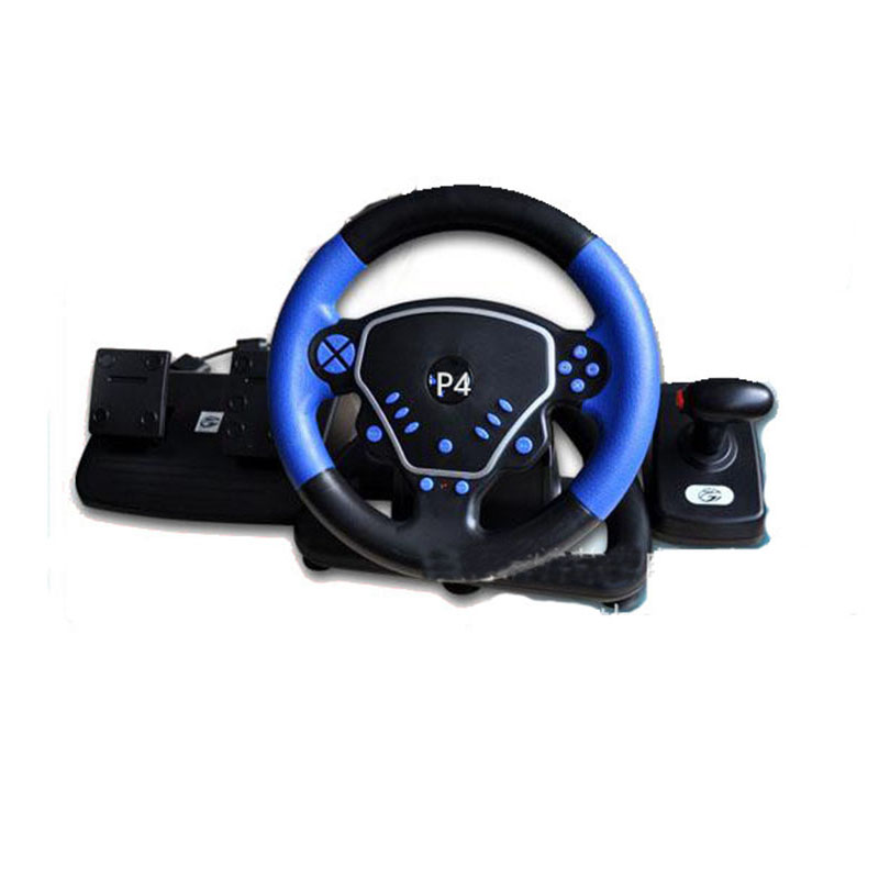 ViGRAND 1pcs Racing Wheel for PS2/PS3/PC 3 in 1 Steering with Pedal and Handbrake playstation move racing wheel