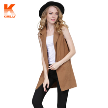 Women Ladies Waistcoat Waterfall Cape Women Long Sleeveless Cardigan Top Jacket Outerwear Vest #681551