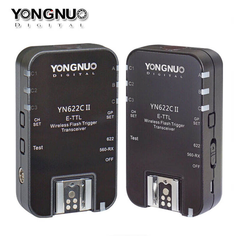 YONGNUO YN622C II Wireless ETTL Flash Trigger with HSS 1/8000s for Canon Camera Support YN560-TX YN560IV YN685 YN600EX-RT RF-605 yongnuo yn622c ii hss e ttl flash trigger for canon camera compatible with yn622c yn560 tx rf 603 ii rf 605