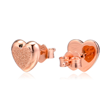 2019 Stud Earrings with 925 Silver Jewelry Matte Brilliance Hearts Sterling for Women fashion