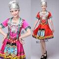 Женский костюм юбка в складку костюм танец одежда Дамы Мяо одежда Хмонг одежда для женщин оптовых и розничных продаж