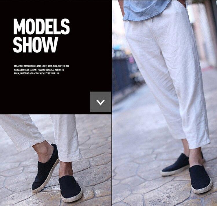 Oudiniao sapatos masculinos casuais respirável lona sapatos