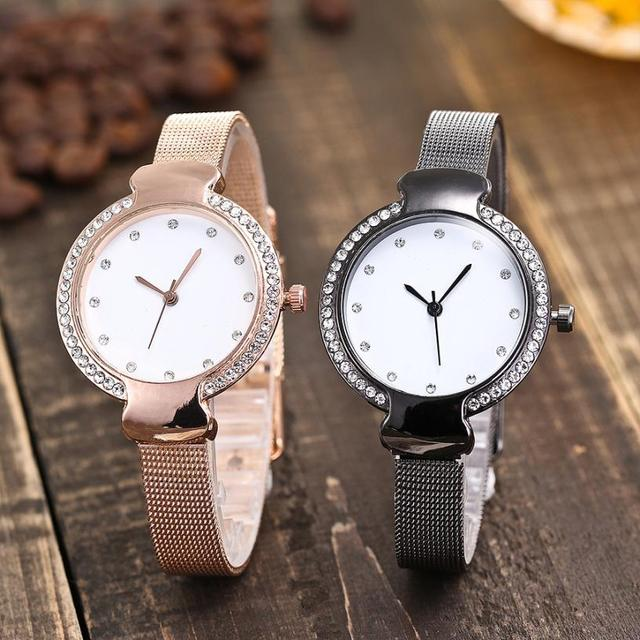 Quartz Wristwatches Reloj Casual Stainless Steel Band Marble Hours Watch Fashion