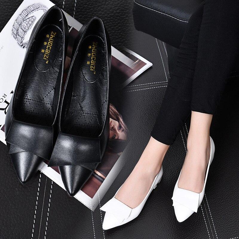 Scoop Noir Sauvage Mode Peu Talons rouge 2018 Chaussures Femmes Travail Bouche blanc A Nouvelles Profonde Coréenne Bas Plat À Noir qXgWTXIwS