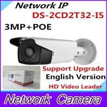 Wholesale Newest English Version IP Camera 3.0 megapixel V5.3.3 Multi Language IP Camera POE CCTV Camera IR DS-2CD2T32-I5