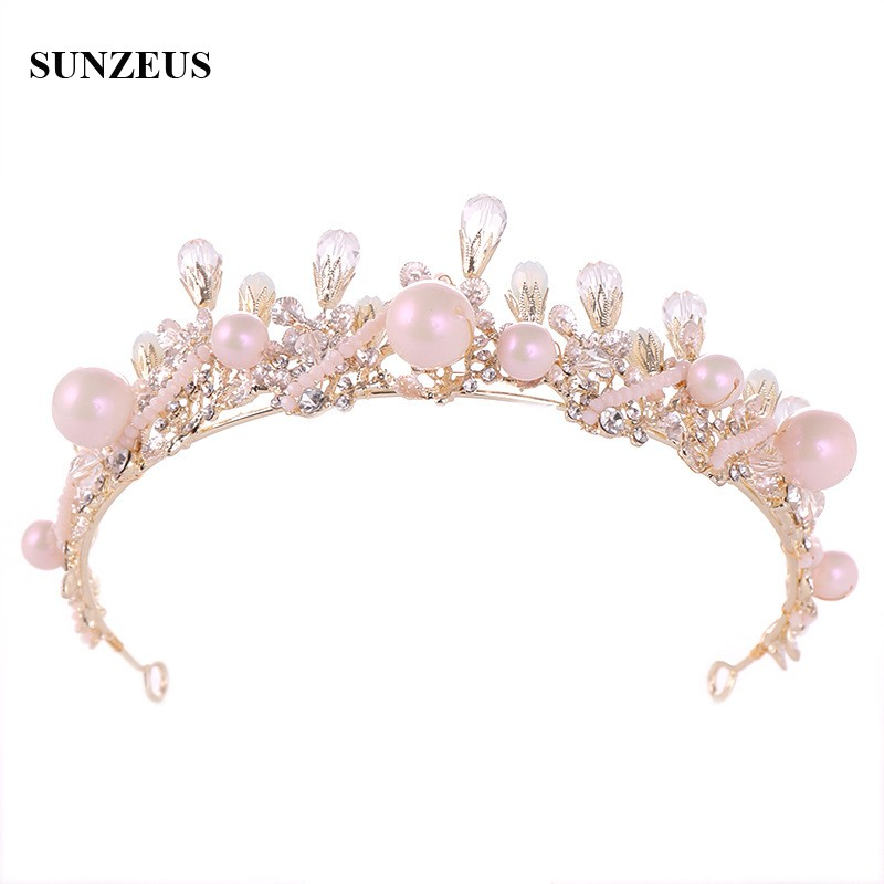 2019 New Fashion Jewelry Hair Accessory For Wedding Party Crystals Pearls Bridal Tiaras Cute Princess Crowns SQ355