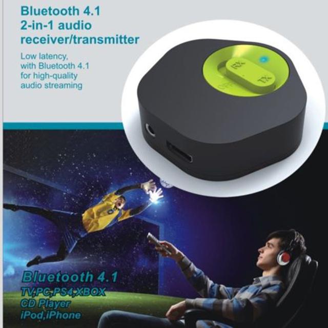 2 em 1 Hifi Sem Fio Bluetooth V4.1 Música Áudio do Receptor transmissor Adaptador Dongle 3.5mm Apt SBC Apoiado Para TV CD jogador