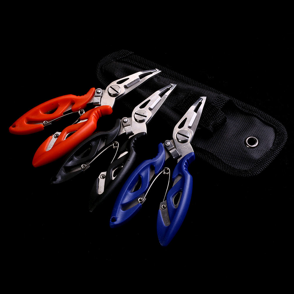 все цены на WALK FISH 1PCS Stainless Steel Fishing Pliers with package 3 Colors Scissors Line Cutter Remove Hook Fishing Tackle Tool